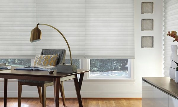 Insulated shades in home office