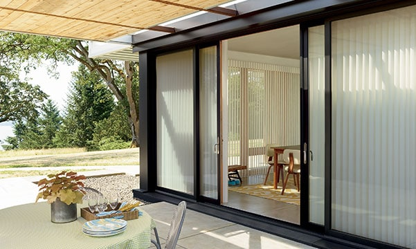 outside view sliding glass door shades