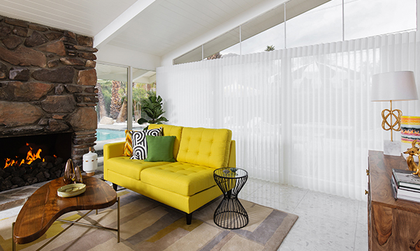 Luminette Privacy Sheers at Green Gables home at Modernism Week 2019