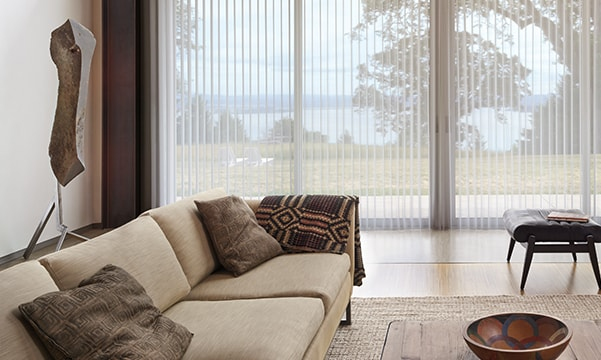 Luminette Privacy Sheers in living room