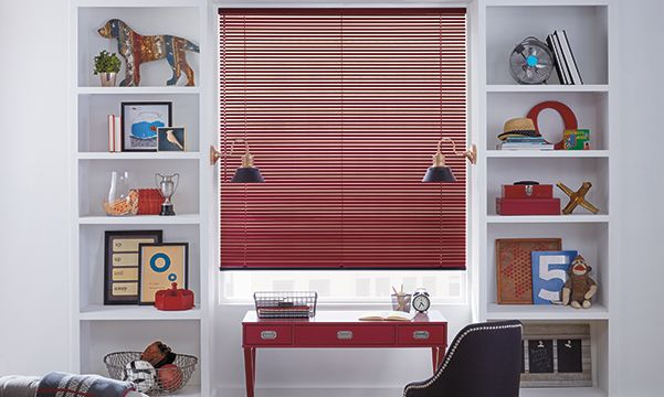 aluminum blinds in kids bedroom