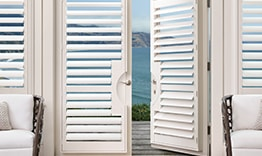 Palm Beach Polysatin Shutters on Doors