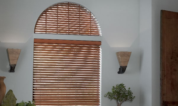 parkland shades on arched window