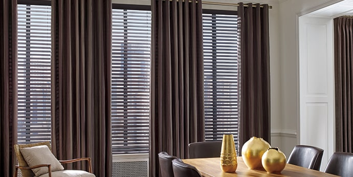 Parkland Wood Blinds with Design Studio Side Panels