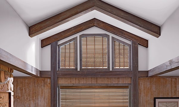 parkland wood blinds in specialty shapes
