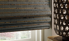 Provenance Woven Wood Shades in Bathroom