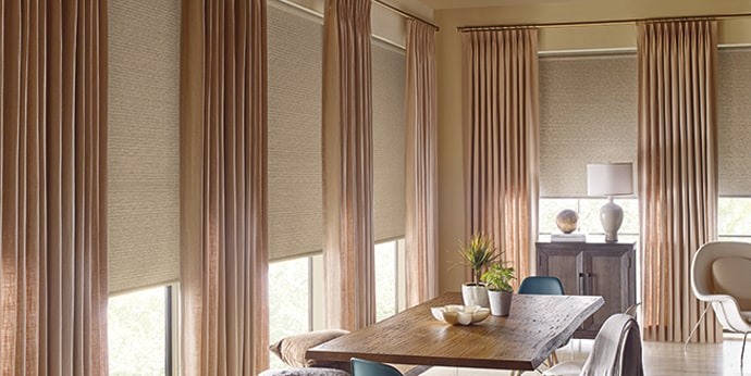 Designer Roller Shades with Design Studio Side Panels