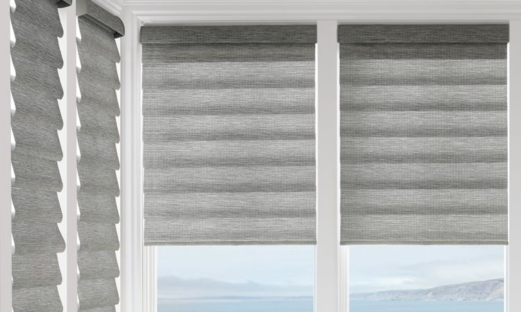 Different styles of roman shades - Rolling Style Full Fold - Vignette