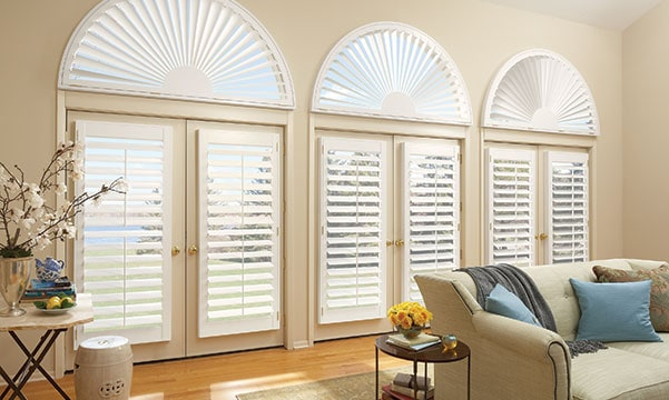 shutters on arched windows