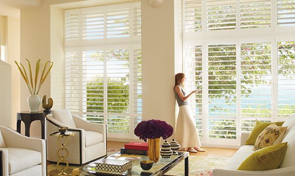 Palm Beach shutters in the living room