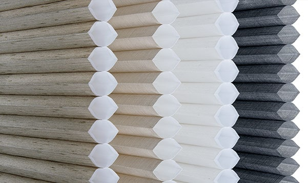 sideview of cellular shades