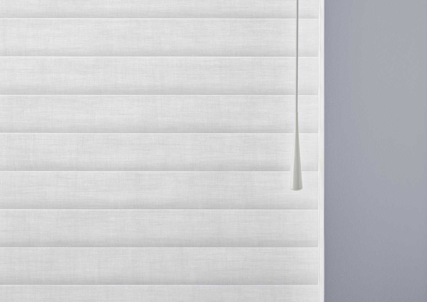 Sonnette Cellular Roller Shades on a window.
