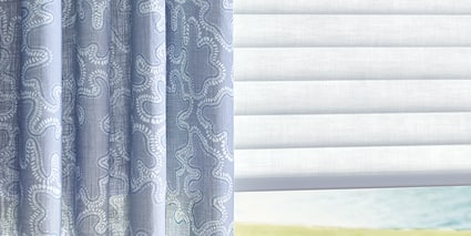 Sonnette Cellular Roller Shades with Design Studio Side Panels