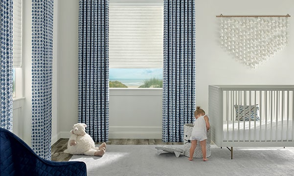 sonnette cellular roller shades in nursery