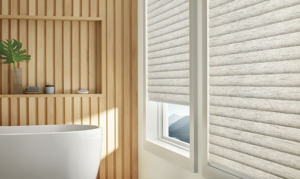 window treatments in bathroom
