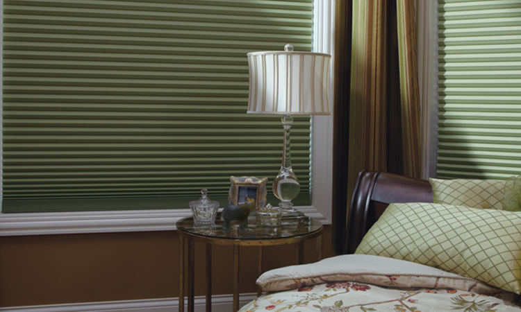 Duette Honeycomb Shades in Bedroom