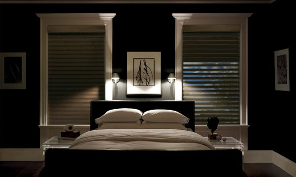 Silhouette Window Shadings in Bedroom