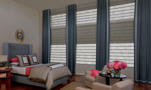 Vignette Modern Roller Shades in Bedroom