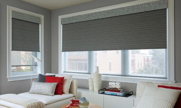 Roller Shades in Bedroom