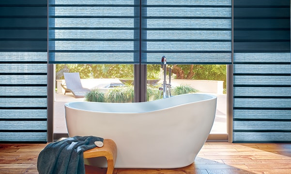 Vignette Modern Roman Shades in Bathroom