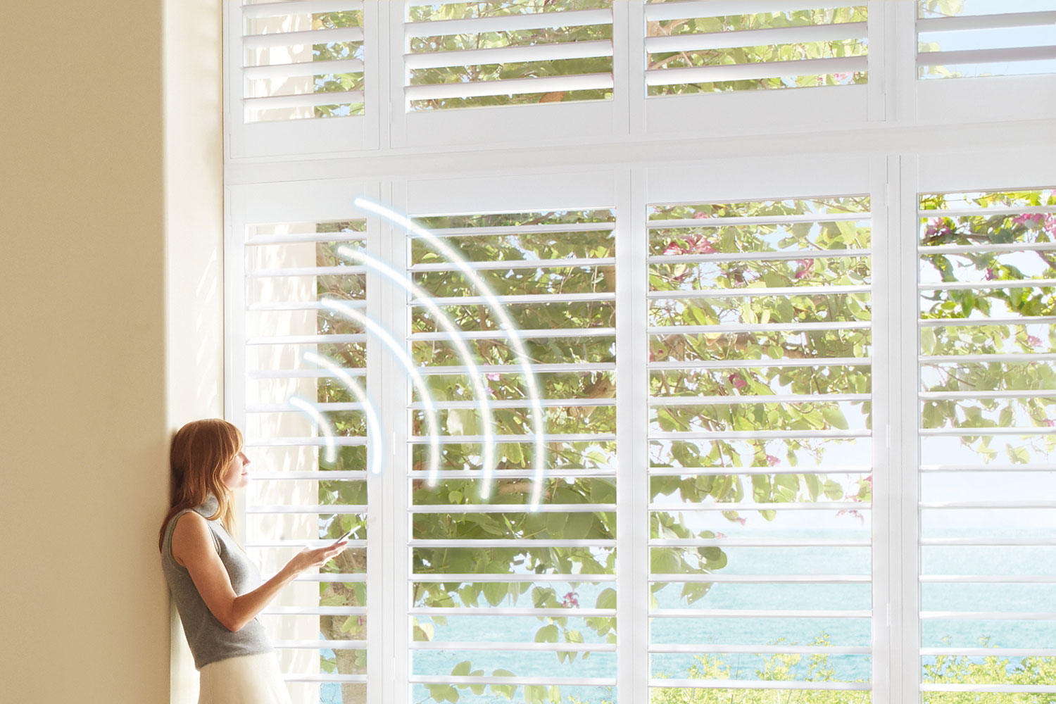 Smart Home Voice Commands - Palm Beach™ Polysatin™ Shutters