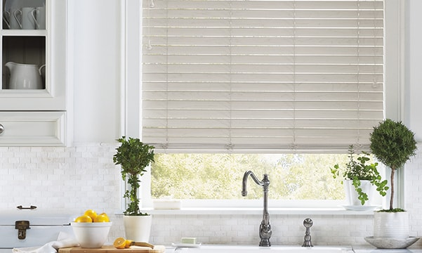 EverWood Alternative Wood Blinds in Kitchen