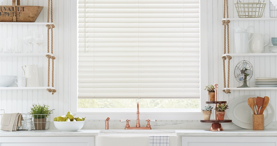 Parkland Wood Blinds in Kitchen
