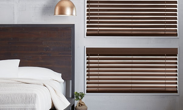 Parkland Wood Blinds in Bedroom