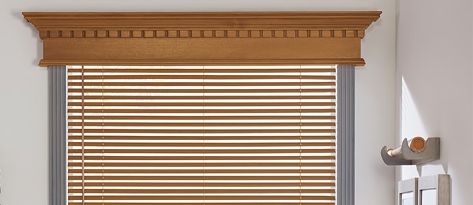 Wooden blinds in Basswood Harvest - Parkland