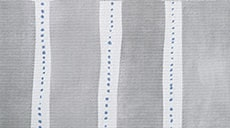 Design Studio Roller Shades in Dotted Stripe Gray-wood - thumb
