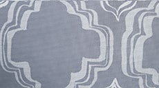 Design Studio Roller Shades in Ornament Storm Gray - thumb