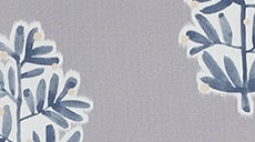Design Studio Roller Shades in Tree of Life Gray/Blue - thumb
