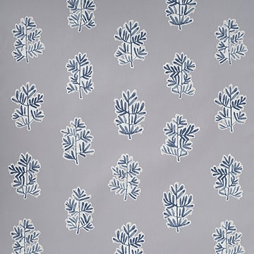 Design Studio Roller Shades in Tree of Life Gray/Blue - wide