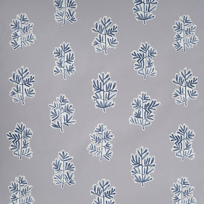 Design Studio Roller Shades in Tree of Life Gray/Blue - wide mobile