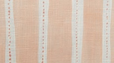 Design Studio Roman Shades in Dotted Stripe Peach - thumb