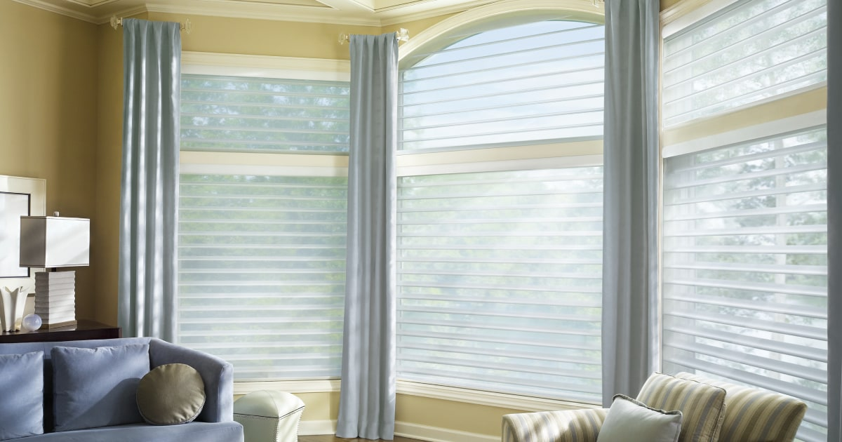 Shades And Drapes Combine Blinds And Drapery