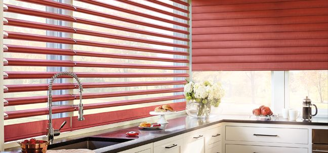 Pirouette Kitchen Window Shadings
