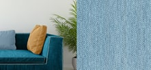 durable blue upholstery fabric