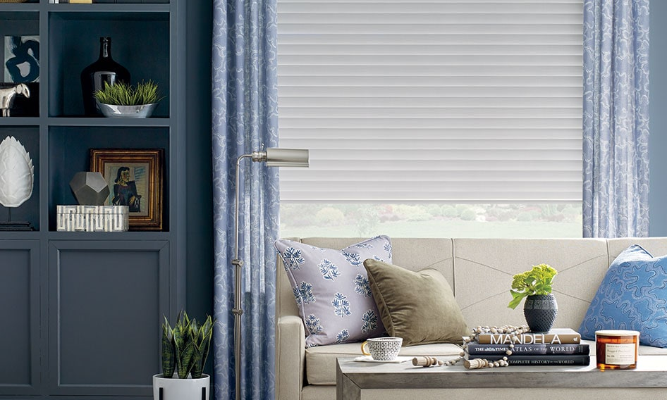 window covering in living room