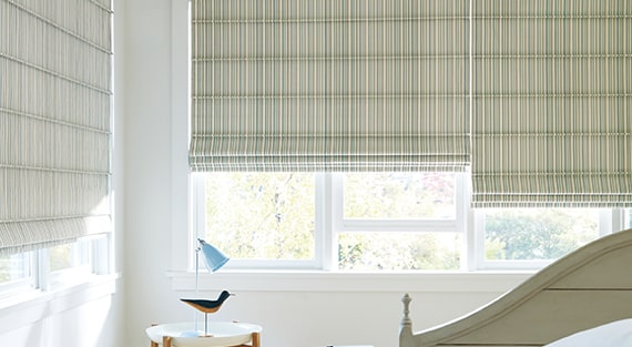 Fabric roman shades - Design Studio