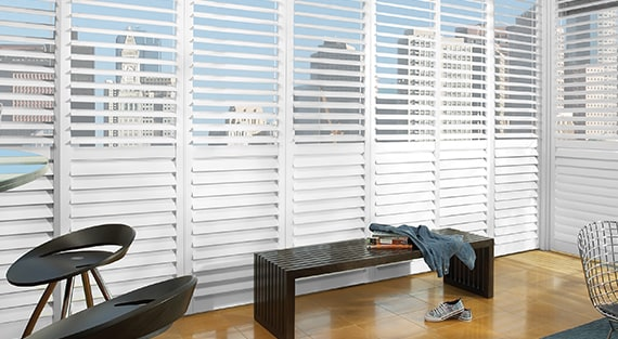 Hybrid interior shutters - NewStyle