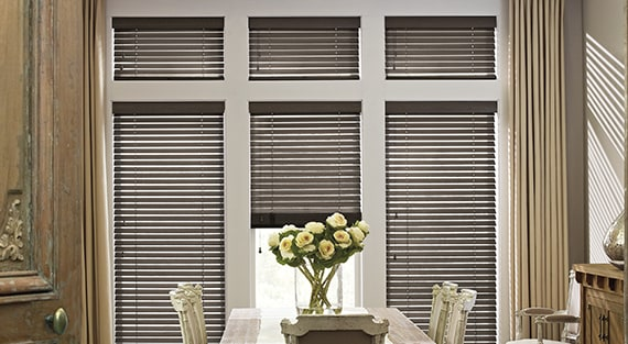 Horizontal Blinds Wood Metal Amp Faux Wood Hunter Douglas