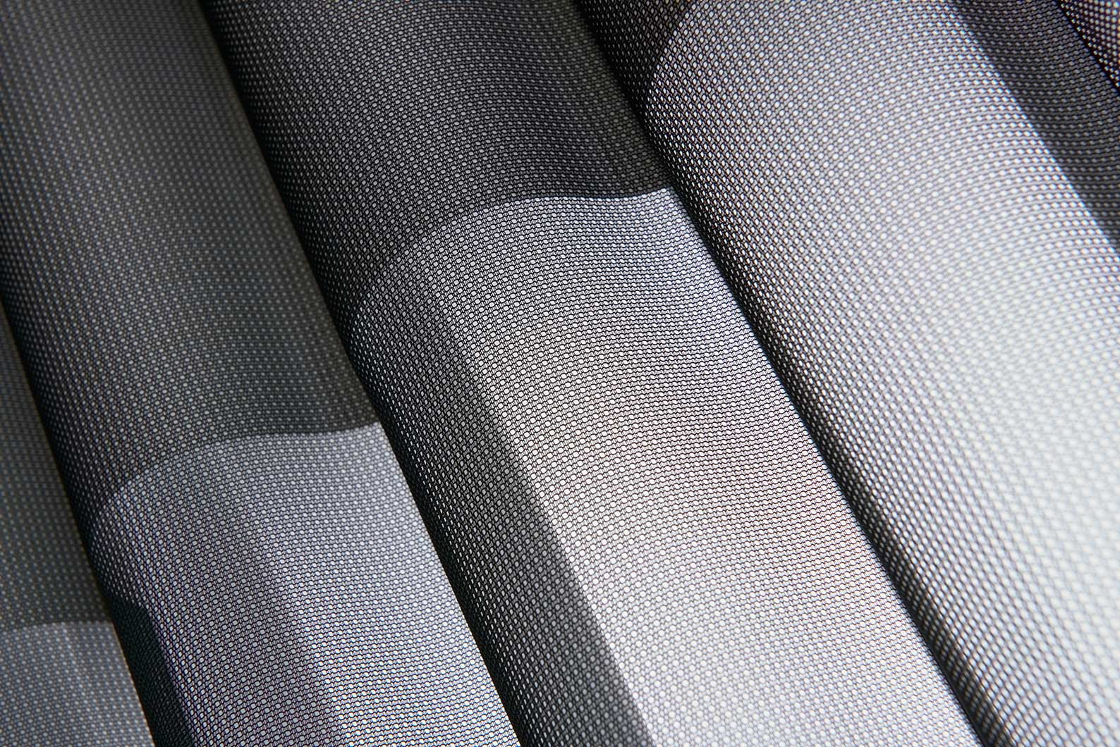 Sleek Luminette fabric texture.