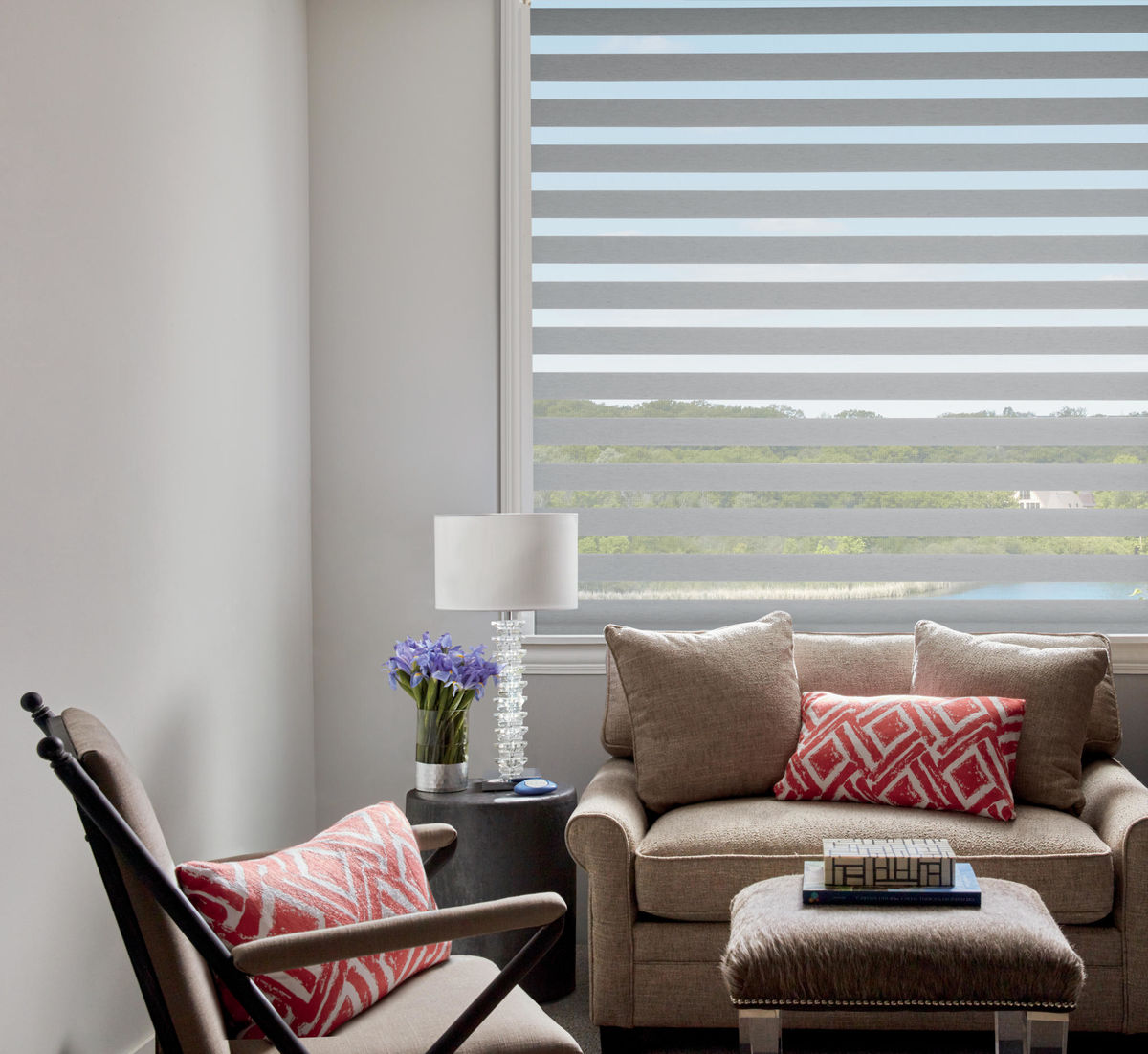 Designer Banded Shades en Queensland Dove
