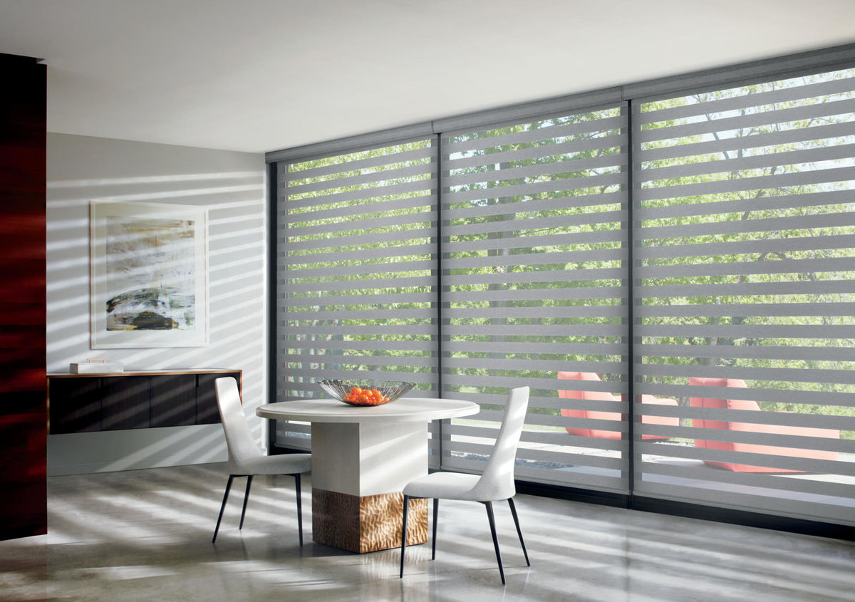 Designer Banded Shades in South Beach Platinum
