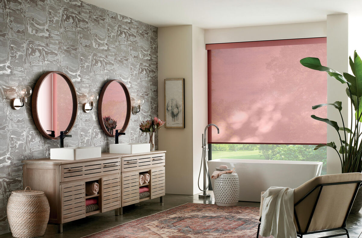 Designer Roller Shades in Jaffna Rouge
