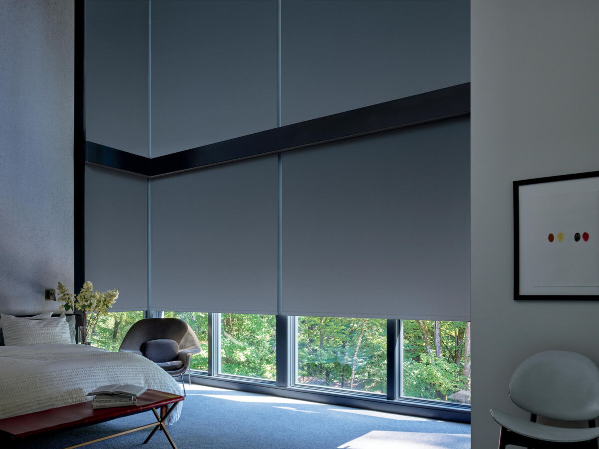 Designer Screen Shades in Abyss Volcanic Ash