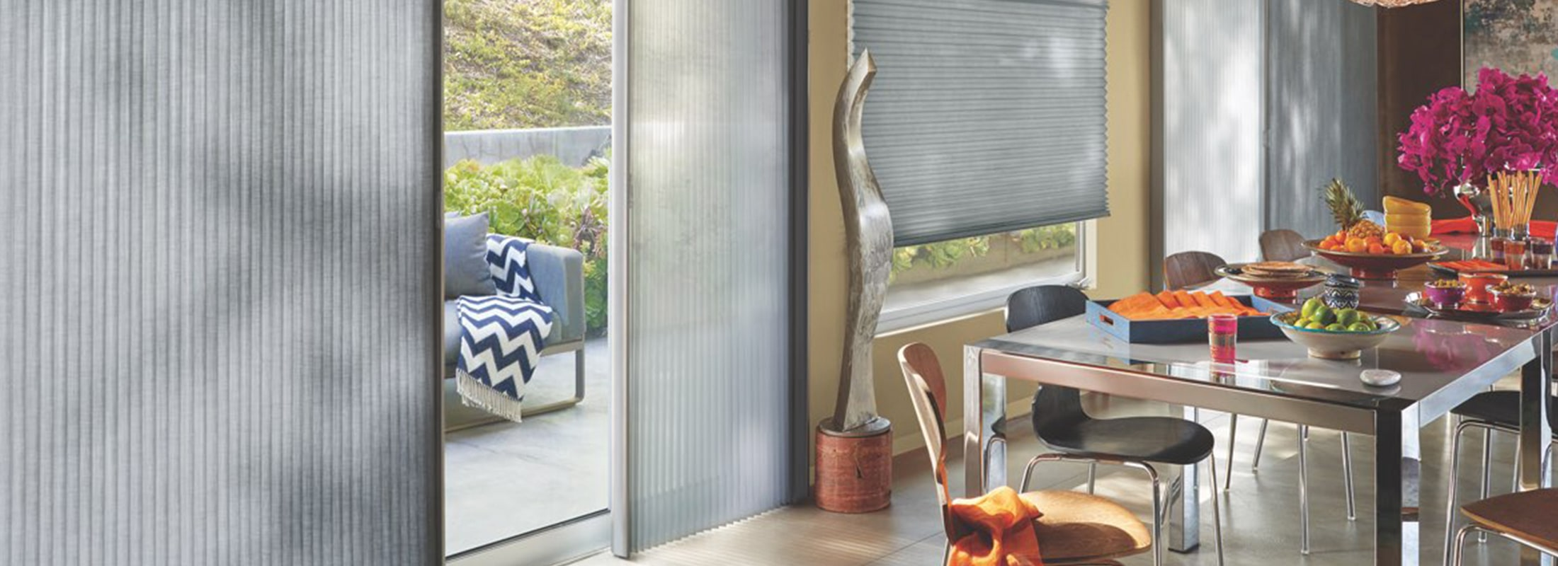Vertical Shade Operating System Slider Shades Vertiglide - Hunter douglas blinds for patio doors
